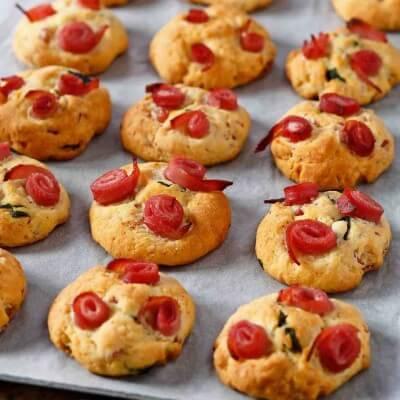 Cookies salés au jambon