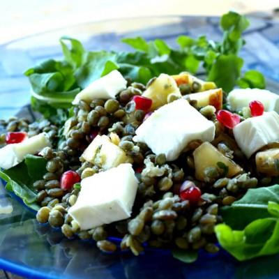 Salade de lentilles au fromage