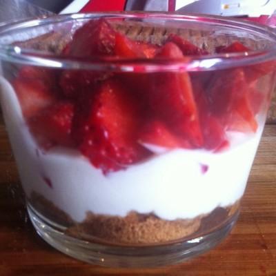 Trifle à la fraises et fromage blanc