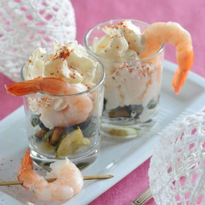 espuma de crevettes et courgettes
