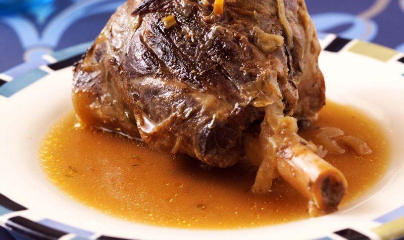Souris d'agneau confites au miel et au thym