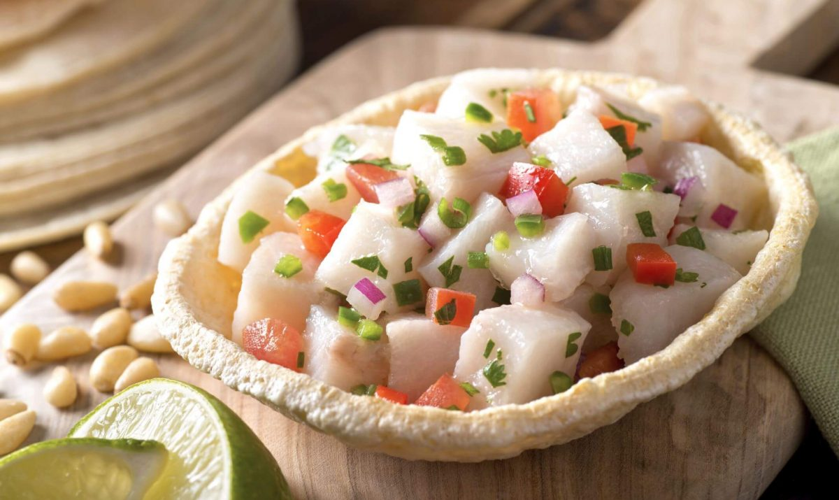 Ceviche de poisson à la Mexicaine