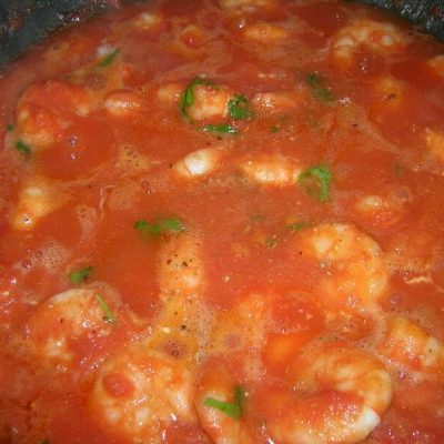 Scampis sauce tomate