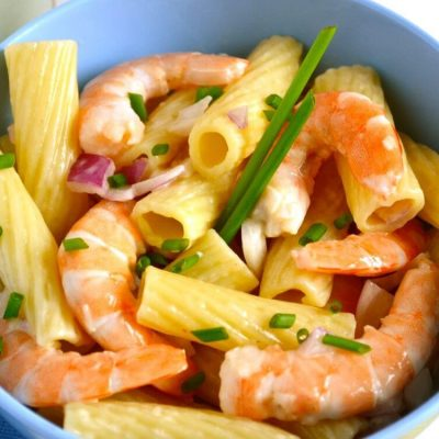 Salade de pâtes et crevettes
