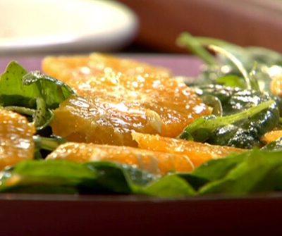 Salade de laitue à l'orange