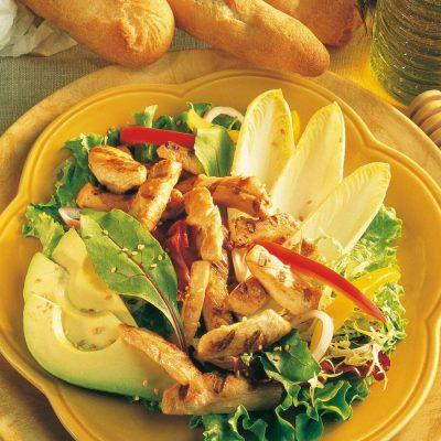 Salade de poulet à l'avocat
