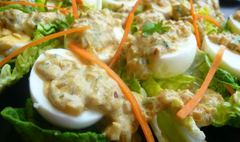 Salade d'œufs farcis