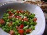 Salade aux poivrons et tomates