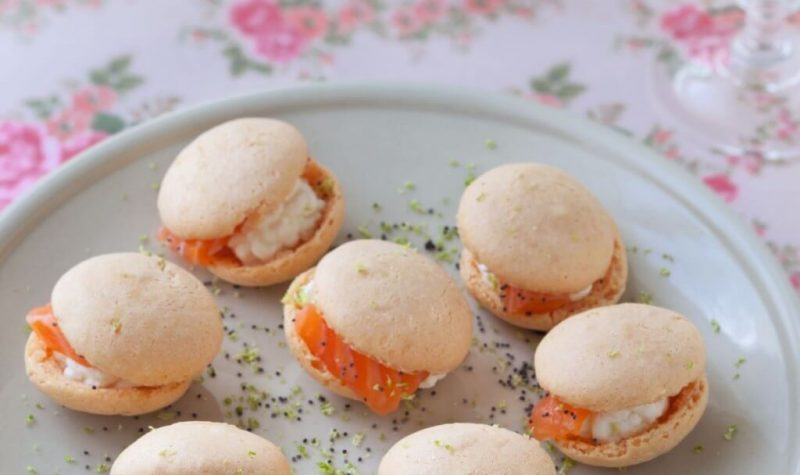 Macarons salé au saumon fumé