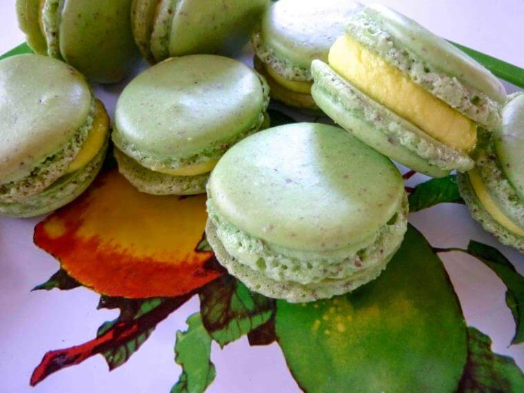 macarons-maison-menthe-poire