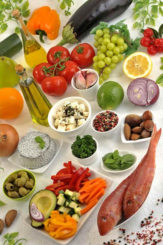 régime méditerranéen legumes-poisson-huile-olive