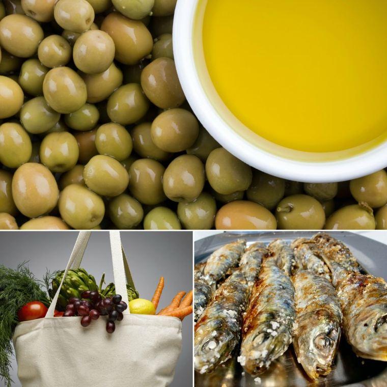 régime méditerranéen olives-poissons-legumes-huile