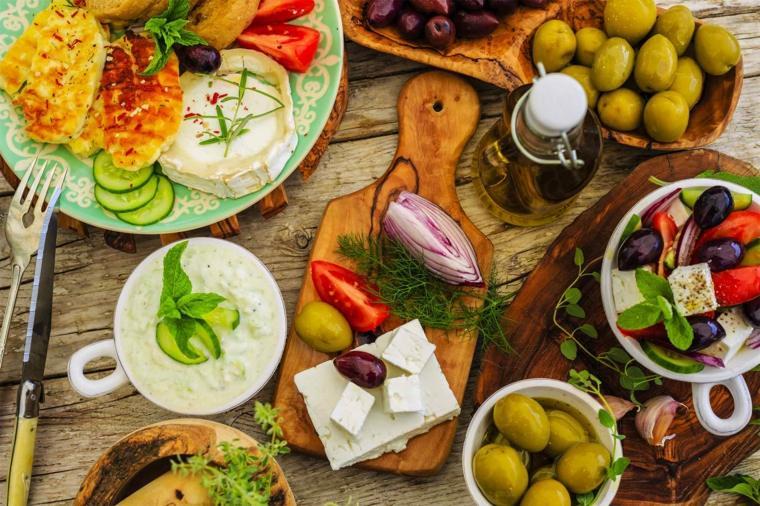 régime méditerranéen vitamines-couleurs