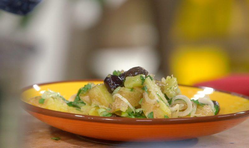 Ecrasé de pommes de terre rattes aux saveurs marines