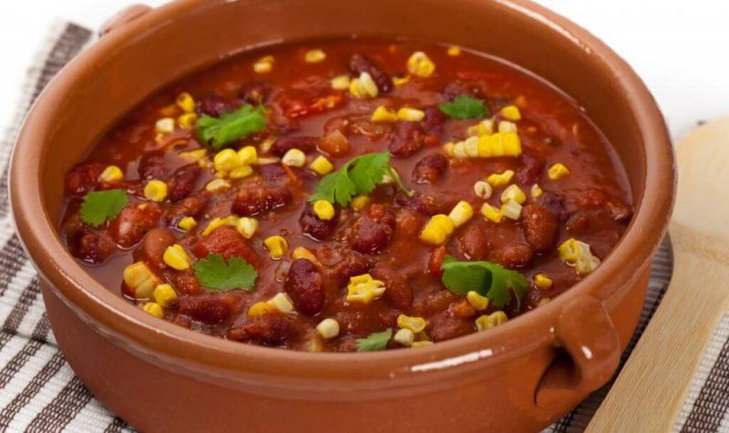 Soupe de haricots rouges
