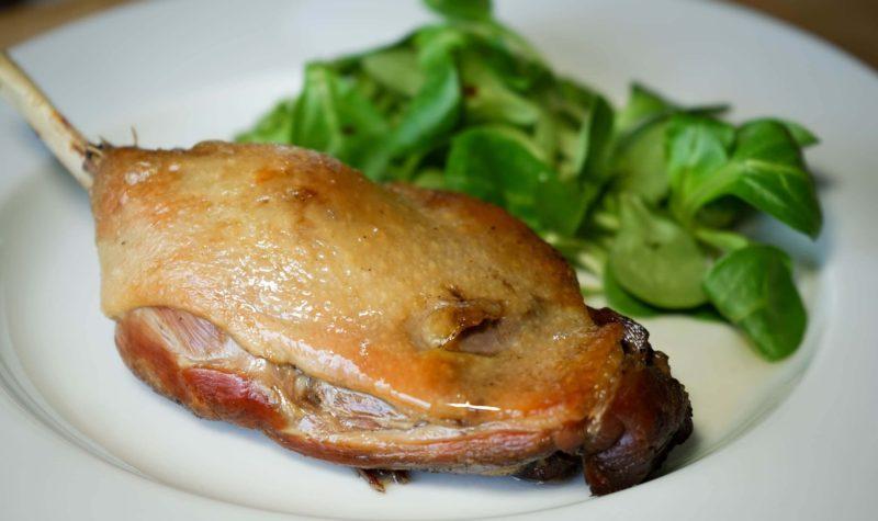 Cuisse de canard confite au four