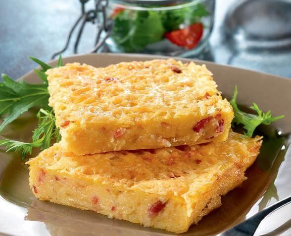 Recette Gratin de polenta aux lardons - Recette AZ