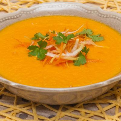 Velouté de carotte au Boursin