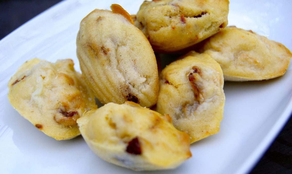 Mini madeleine au pesto