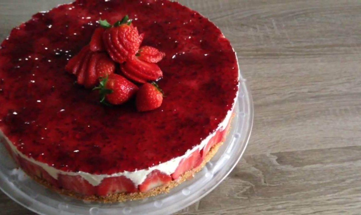 Cheese cake aux fraises