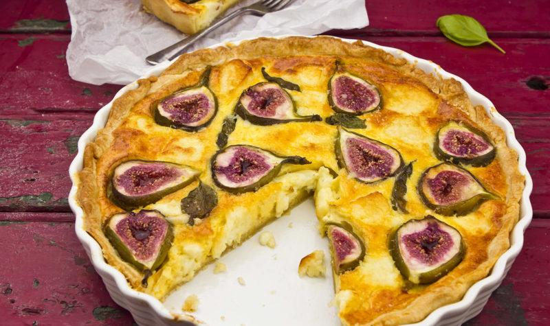 Tarte au fromage et aux figues