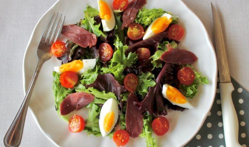 Salade au magret de canard