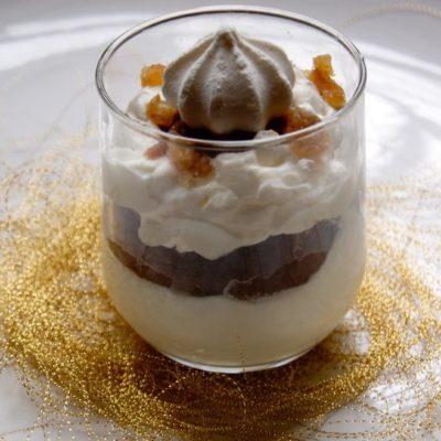Crème vanille aux marrons glacés