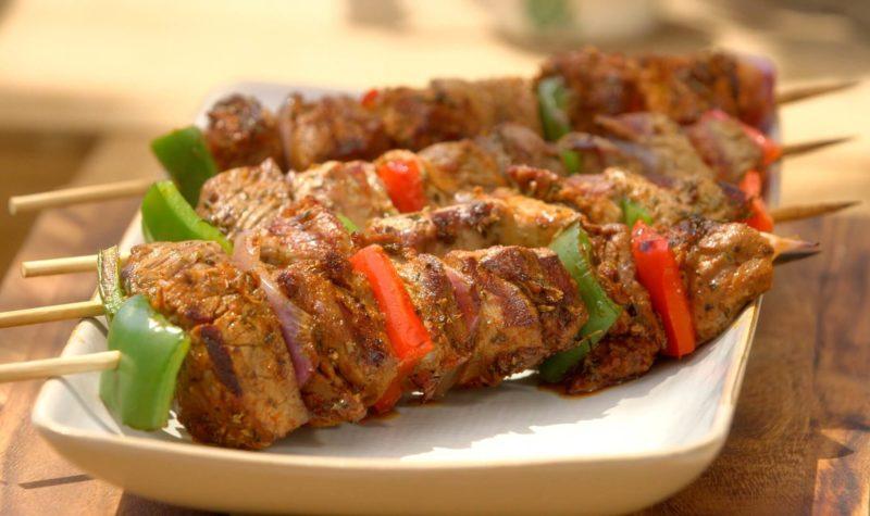 Brochettes de bœuf aux olives