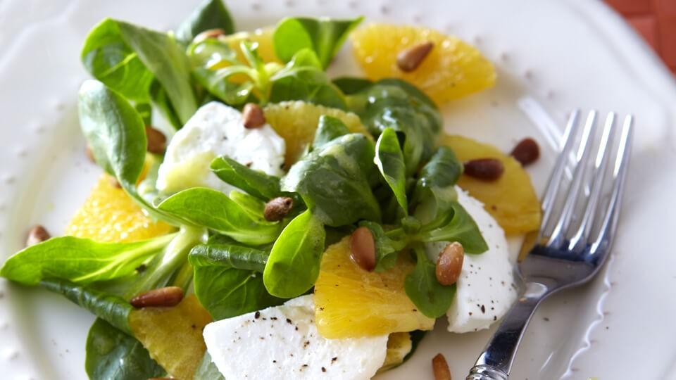 Salade de mâche à l'orange