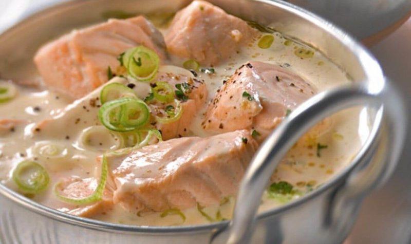 Blanquette de saumon à la moutarde