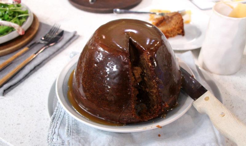 Pudding de Noël au caramel collant