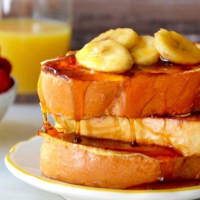 Pain perdu au miel de banane épicé