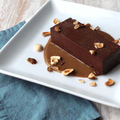 Terrines au chocolat et au caramel