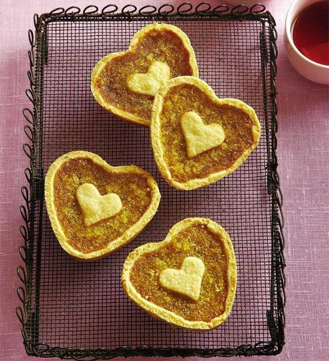 Cœurs de tarte à la mélasse