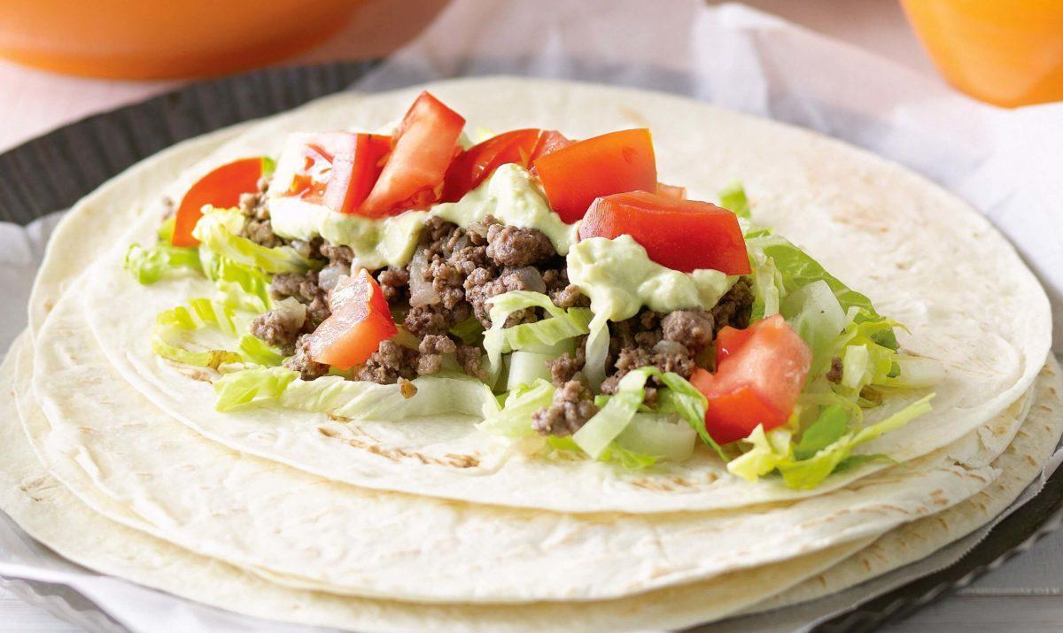 Burritos au bœuf faciles