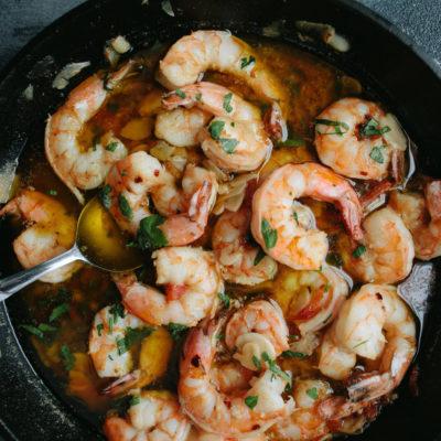 Crevettes à l'ail espagnol