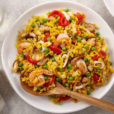 Riz aux fruits de mer à l'espagnol