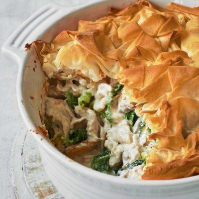 Tarte pique-nique poulet, jambon et asperges