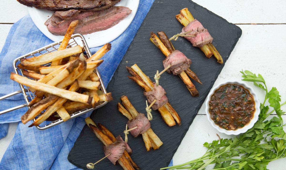 Bouchées de steak frites