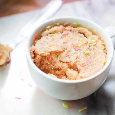 Mug Cake à la vanille